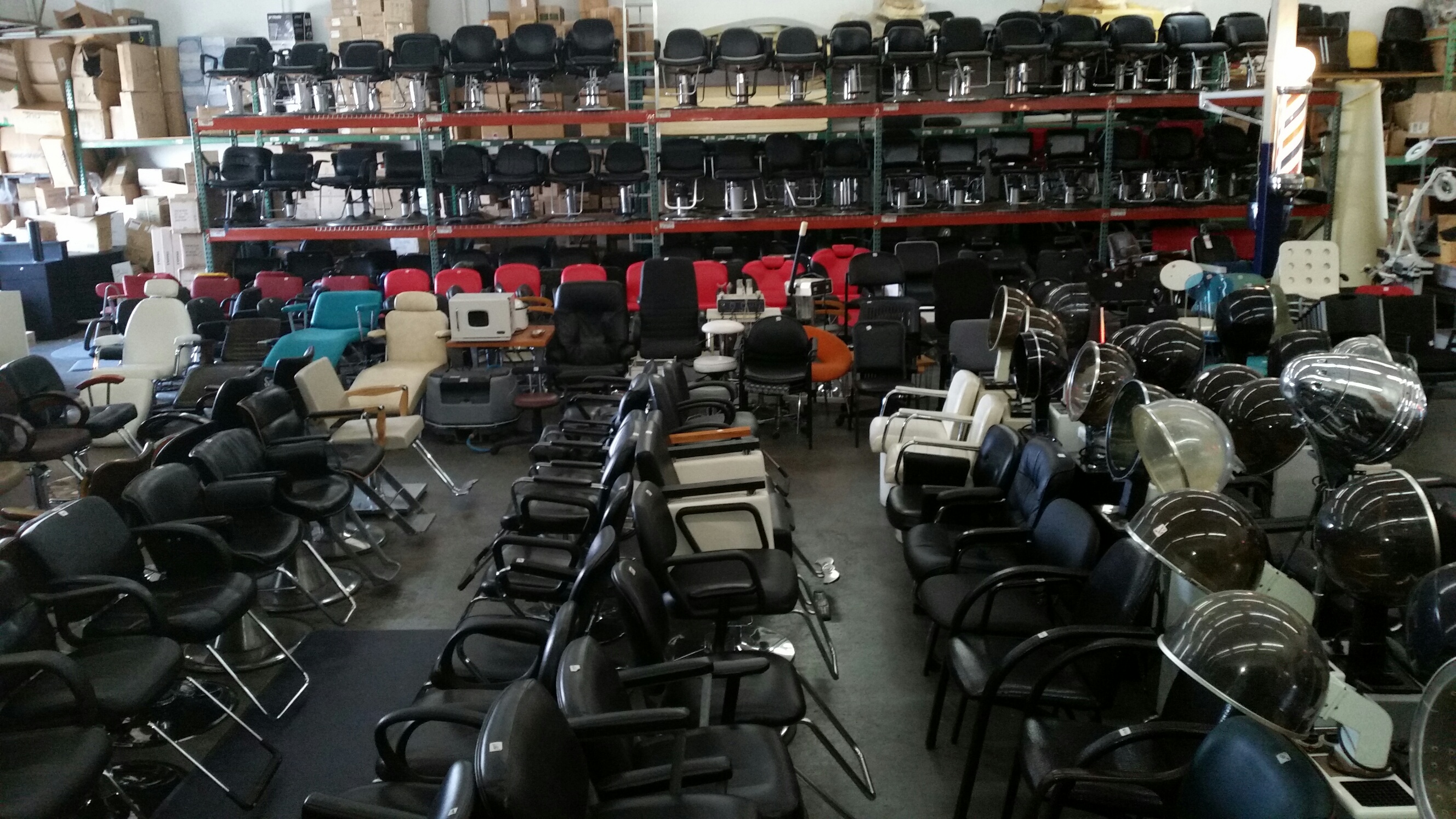 Barber chairs for sale near me used salon chairs sales for Beauty salon equipment warehouse